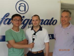 L'inviato della Tv di Stato cinese (CCTV) a Cagliari per intervistare presidente e segretario di Confartigianato Sardegna e visitare le aziende artigiane.