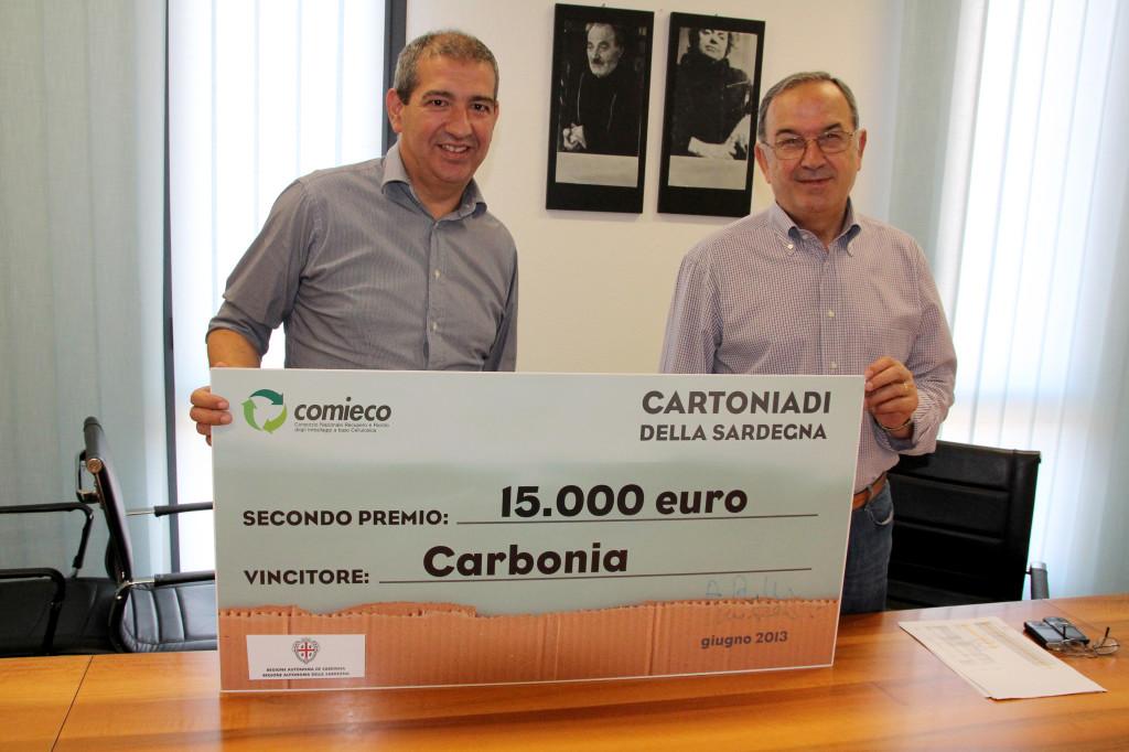 "Cartoniadi 2013: Lanusei comune campione del ""riciclo"", Carbonia al 2° posto."