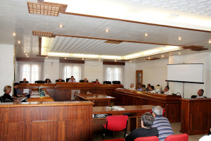 Il Consiglio comunale di Portoscuso.