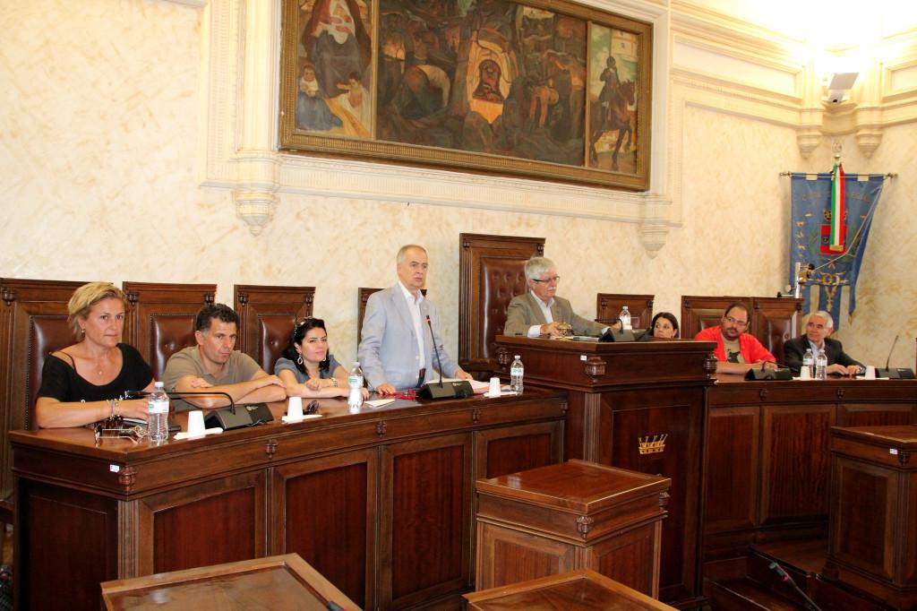 Conferenza stampa del presidente della Provincia di Carbonia Iglesias dopo il commissariamento deciso dal Consiglio regionale.