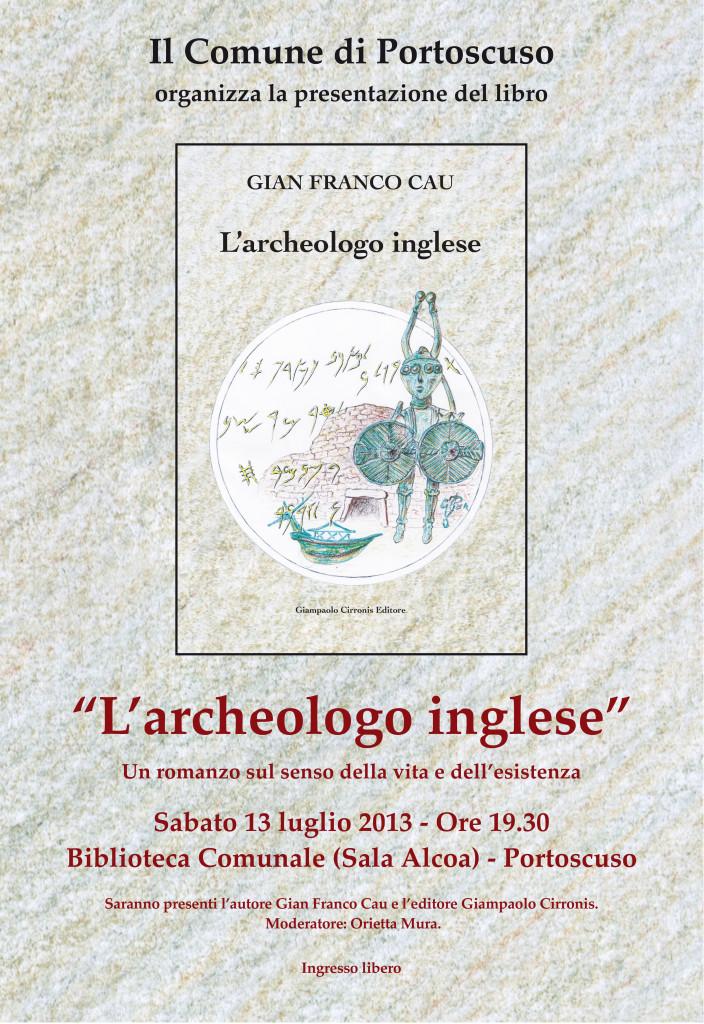 """Presentato sabato sera a Portoscuso il libro """"L'archeologo inglese"""" di Gian Franco Cau."""