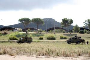Militari impegnati in un'esercitazione a Teulada.