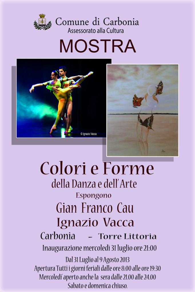 """Verrà inaugurata il 31 luglio a Carbonia la mostra """"Colori e forme della danza e dell'arte"""", di Gian Franco Cau e Ignazio Vacca."""