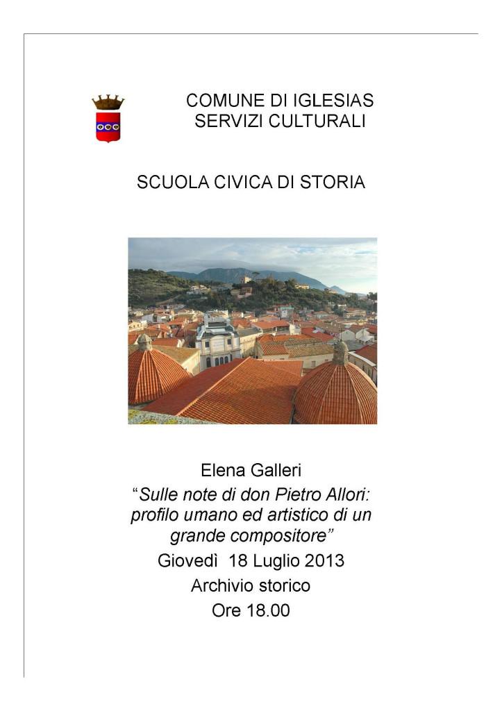 Giovedì 18 luglio nuovo appuntamento con la scuola civica di storia di Iglesias.