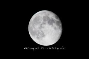 La luna del 22 agosto 2013.
