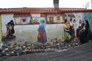 Inaugurato questa sera a Serbariu il murale realizzato e donato alla città di Carbonia da Debora Diana.