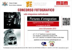 """Scadono il 30 settembre i termini per la partecipazione al concorso fotografico """"Pictures for Integration"""", organizzato dal Comune di Cagliari."""