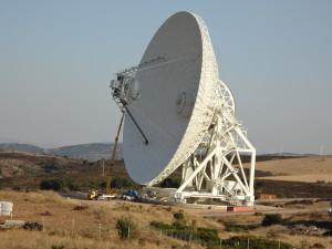 Il Sardinia Radio Telescope di San Basilio.