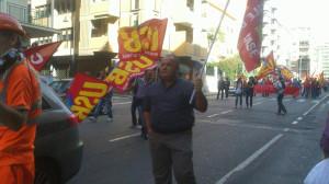 E' in corso a Cagliari la manifestazione indetta da Confederazione Cobas e Confederazione USB.