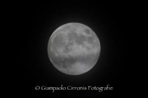 La luna del 18 ottobre 2013.