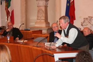Ugo Freguja alla presentazione del libro a Chioggia.