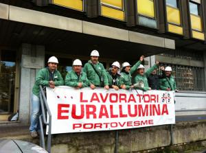 La RSU Eurallumina dopo il sit-in al Mise: «Permane lo stato di agitazione e non sono escluse altre azioni di mobilitazione sino a quando non avremo un riscontro positivo su tutti i punti della vertenza».