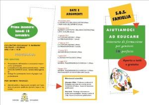 Dal 18 novembre al 9 giugno 2014, a Iglesias, si terrà S.O.S. Famiglia, itinerario di formazione per genitori aperto anche a fidanzati ed educatori.