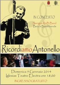 Domenica 5 gennaio al Teatro Electra di Iglesias, si terrà un concerto in ricordo del musicista iglesiente Antonello Murgia.