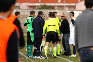 L'espulsione di Daniele Bove nella partita Carbonia - Anspi Frassinetti (2 a 3).