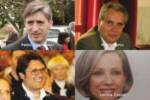 I quattro candidati di Forza Italia alle Regionali nella circoscrizione Carbonia Iglesias.