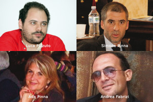 I quattro candidati di Sinistra Ecologia Libertà alle elezioni regionali del 16 febbraio nella lista circoscrizionale di Carbonia Iglesias.