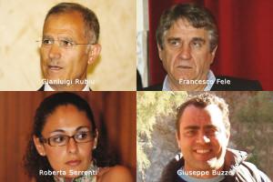 I quattro candidati dell'UDC alle Regionali del 16 febbraio nella circoscrizione provinciale di Carbonia Iglesias.