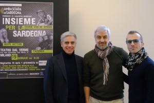 """Domenica 19 gennaio, al Teatro Dal Verme di Milano, """"Insieme per la Sardegna"""", Davide Van de Sfross, Tazenda e Beppe Dettori in concerto per gli alluvionati della Sardegna."""