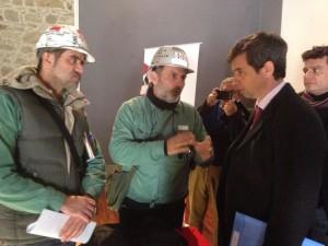 I lavoratori dell'Eurallumina hanno incontrato stamane a Sardara il ministro dell'Ambiente Andrea Orlando.