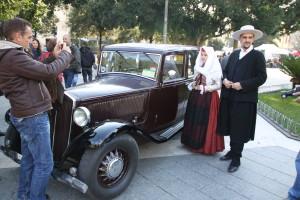 """Il maltempo ha condizionato lo svolgimento della manifestazione """"Sapori, Costumi e Tradizioni di… Sardegna"""", svoltasi oggi nel centro storico di Iglesias."""