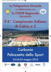 Questo pomeriggio verrà presentato a Carbonia il 6° campionato di calcio a cinque Fisdir.