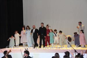 "Teatro Electra pieno ieri sera, a Iglesias, per l'opera lirica ""ZinBumBum – Edina e i ricordi di carta""."