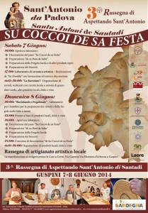 """Il 7 e l'8 giugno a #Guspini si svolgerà la terza rassegna di """"Aspettando Sant'Antonio"""", """"Su coccoi de sa festa""""."""
