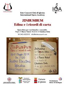 """Il 30 e 31 maggio al Teatro Electra di Iglesias, andrà in scena l'opera lirica inedita """"ZinBumBum – Edina e i ricordi di carta""""."""