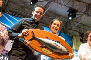 Gli chef francesi Sylvain Sendra e Anne Legrand hanno trionfato al #Girotonno 2014.