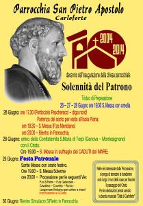 MANIFESTO SAN PIETRO 2014