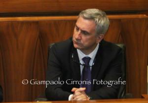 Audizione dell'assessore Paolo Maninchedda in 4ª commissione sugli interventi per la mitigazione del rischio idrogeologico.