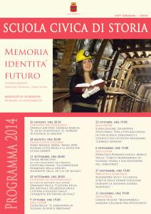 Al via, a Iglesias, la Scuola Civica di Storia 2014:  primo appuntamento giovedì 26 giugno.