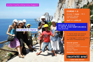 Al via mercoledì 9 luglio a Iglesias, la #Scuola civica d'arte contemporanea.