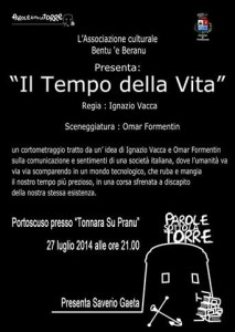 """Questa sera, a #Portoscuso, verrà presentato il cortometraggio """"Il Tempo della vita"""", di Ignazio Vacca."""