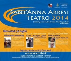 Prende il via questa sera il #Festival Sant'Anna Arresi Teatro 2014.