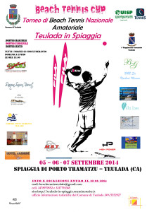 Dal 5 al 7 settembre, a #Porto Tramatzu, è in programma un torneo di beach tennis nazionale amatoriale.