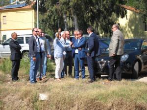 La Quarta commissione oggi ha fatto un sopralluogo a Olbia, per la verifica dell'attuazione degli interventi post alluvione.
