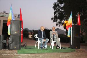 Dopo l'incontro di ieri con il governatore Francesco Pigliaru, oggi il senatore Luciano Uras ed il segretario #CGIL Michele Carrus alla festa di #Sel, a Carbonia.