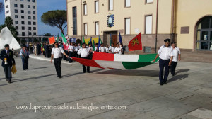Si è svolta stamane, a Carbonia, una manifestazione di solidarietà per i due marò Massimiliano La Torre e Salvatore Girone, prigionieri in India da oltre due anni.