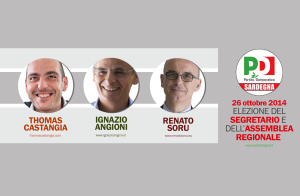 Candidati alla segreteria del PD sardo
