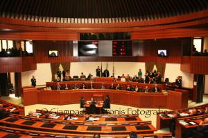 Il Consiglio regionale si è riunito stamane al completo, dopo la sospensiva della sentenza del Consiglio di Stato.