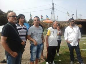 Sabato 11 ottobre l'attore Francesco Pannofino ha fatto visita ai lavoratori ex Alcoa che presidiano da 5 mesi e mezzo lo stabilimento di Portovesme.