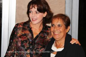 #Cineteatro Centrale di Carbonia pieno, ieri sera, per l'anteprima della VII edizione del #Mediterraneo Film Festival, con Claudia Gerini e Marina Spada.