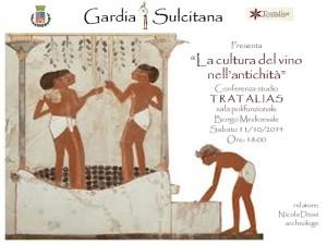"""Sabato 11 ottobre, al #Borgo medioevale di Tratalias, una conferenza studio sul tema """"La cultura del vino nell'antichità""""."""