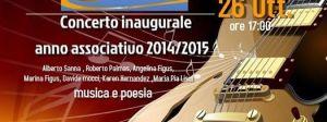 Domenica 26 ottobre, l'associazione culturale S'Ischiglia inaugura con un concerto, a Carbonia, l'anno associativo 2014/2015.
