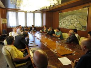 Il presidente del Consiglio regionale, Gianfranco Ganau, e i rappresentanti dei gruppi consiliari, hanno incontrato oggi gli ex dipendenti della Nuova Scaini.