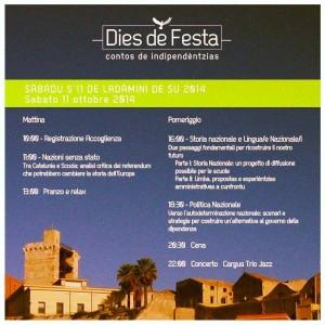 L'11 e 12 ottobre si svolgerà a Cagliari la terza edizione di #Dies de Festa, la festa nazionale di Progres.