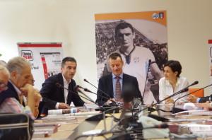 La conferenza stampa.