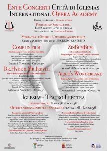 """L'Ente Concerti Città di Iglesias e l'International Opera Academy domani sera presentano al Teatro Electra il musical """"Come un film""""."""